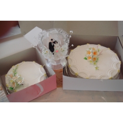 OC0004-2 Tiers Wedding Cake