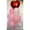 BB1070-hearts balloons bouquet