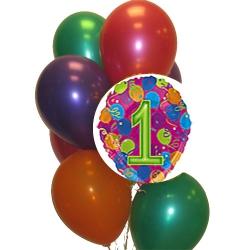 BBN01-singapore 1st birthday balloons