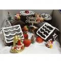CW0514-frosty christmas village cake