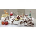 CX0513-frosty christmas log cake