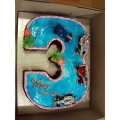 3-GF0022 Figure Three Cake