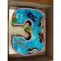 3-GF0022 Figure Three Cake