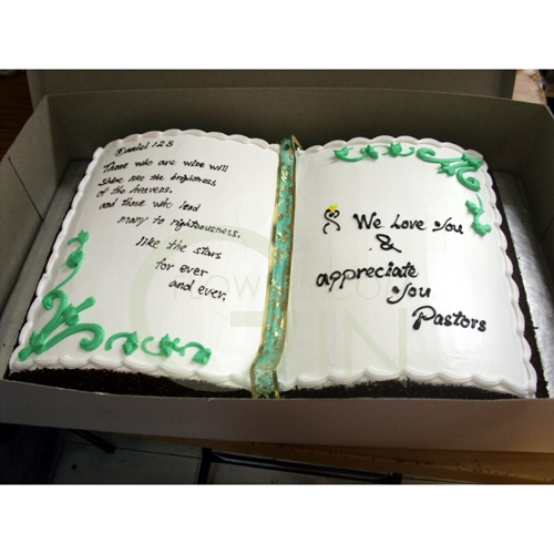 Open Book Shaped Cakes