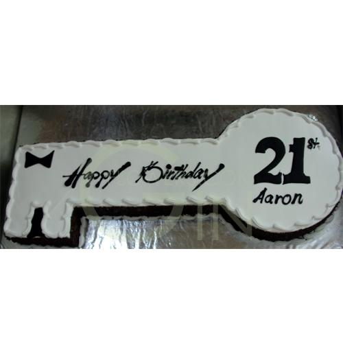 Key Cake Designs For 21st Birthday : GF0044-21st key cake