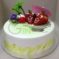 GF0331-strawberry couple cake