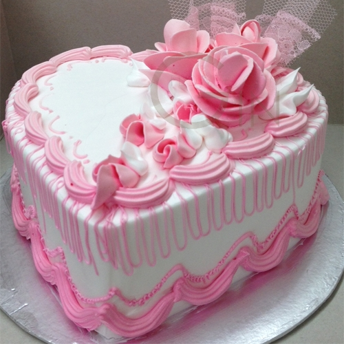 Cake Images We Heart It : GF0333-pink heart cake