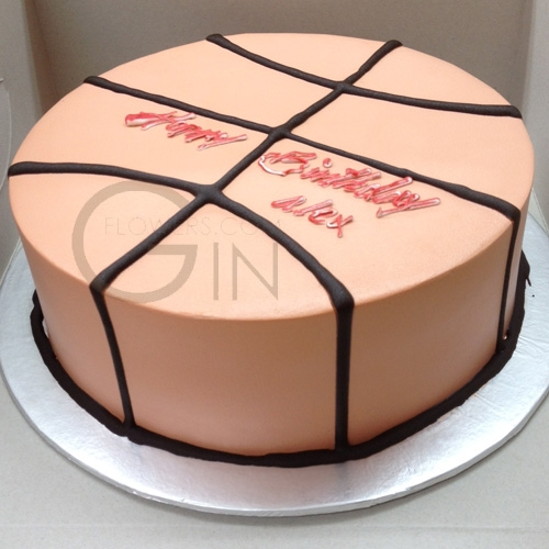 Cool Gf0343 Basketball Birthday Cake Funny Birthday Cards Online Alyptdamsfinfo