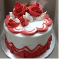 GFP0357-300gm red rose cake