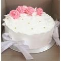 GF0504-classic pink rose cake