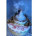 GF0534-golden wedding cake