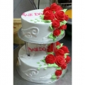 GF0582-2tier wedding cake