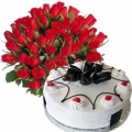 0GF0586-cake flower delivery