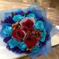 GF0604-red & blue rose delight