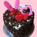 GFP0965-300gm heartshape cake delivery