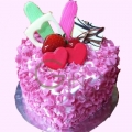 GFP0963-300gm heartshape cake delivery