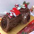 GF0975-vegetarian eggless log cake delivery