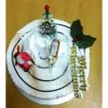 GF003XMAS 300gm Min Log Cake