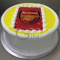 GF544-photo cake arsenal cake