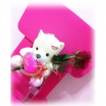 HB0002-Long Stemmed Rose With Bear