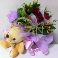 HB0004-rose bear bouquet