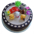 OC0094-Tea Party Children Birthday Cake