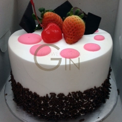 GFP0162F-300gm RED Dreamy F Birthday Cake