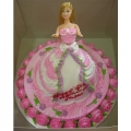 1-OC0260-Pink Doll Birthday Cake