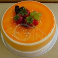 4-OC1173-Orange Shape Cake