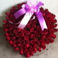 QF0857-express love rose arrangement