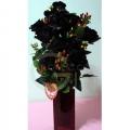 QF1168 black roses glass
