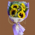 QF1181-sunflower hand bouquet