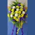 QF1182-Wreath white with yellow zhenyang chrysanthemum