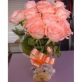 QF1191-pink roses arrangement