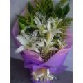 QF1207-Lilies Hand Bouquet