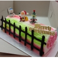 CX0511-Rainbow christmas log cake