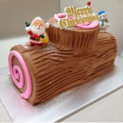CX0510-chocolate christmas log cake