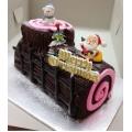 CX0509-Chocolateful christmas log cake