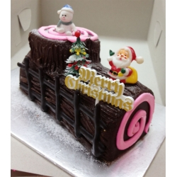 CX0509-Chocolateful christmas log cake