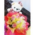 H001-Rose Bear Bouquet